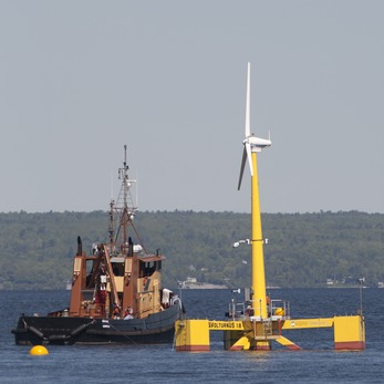 11638_offshore1 Continent's First Grid-Connected Offshore Wind Turbine Floats In Maine Waters