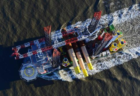 First Foundation At Nordsee One Offshore Wind Project