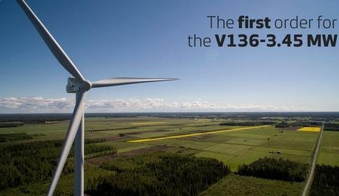 Vestas Nets First Order For V136-3.45 MW Wind Turbine