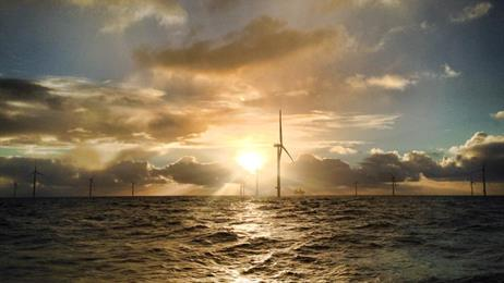 Gode-Wind-wind-mills-sunset Gode Wind 2 Offshore Project Now Feeding Into German Grid