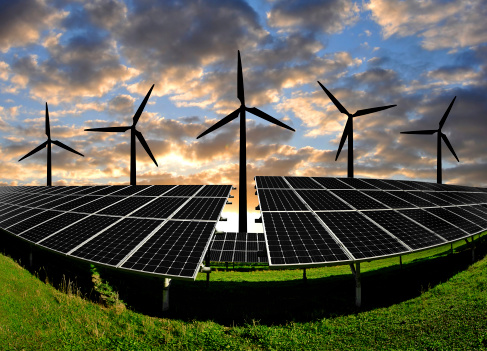 wind-solar-clouds EIA Outlines Utility-Scale Renewables Growth In Short-Term Energy Outlook