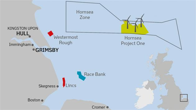 Hornsea-FID-map ABS Group Inks Certification Contract For Hornsea Offshore Wind Farm