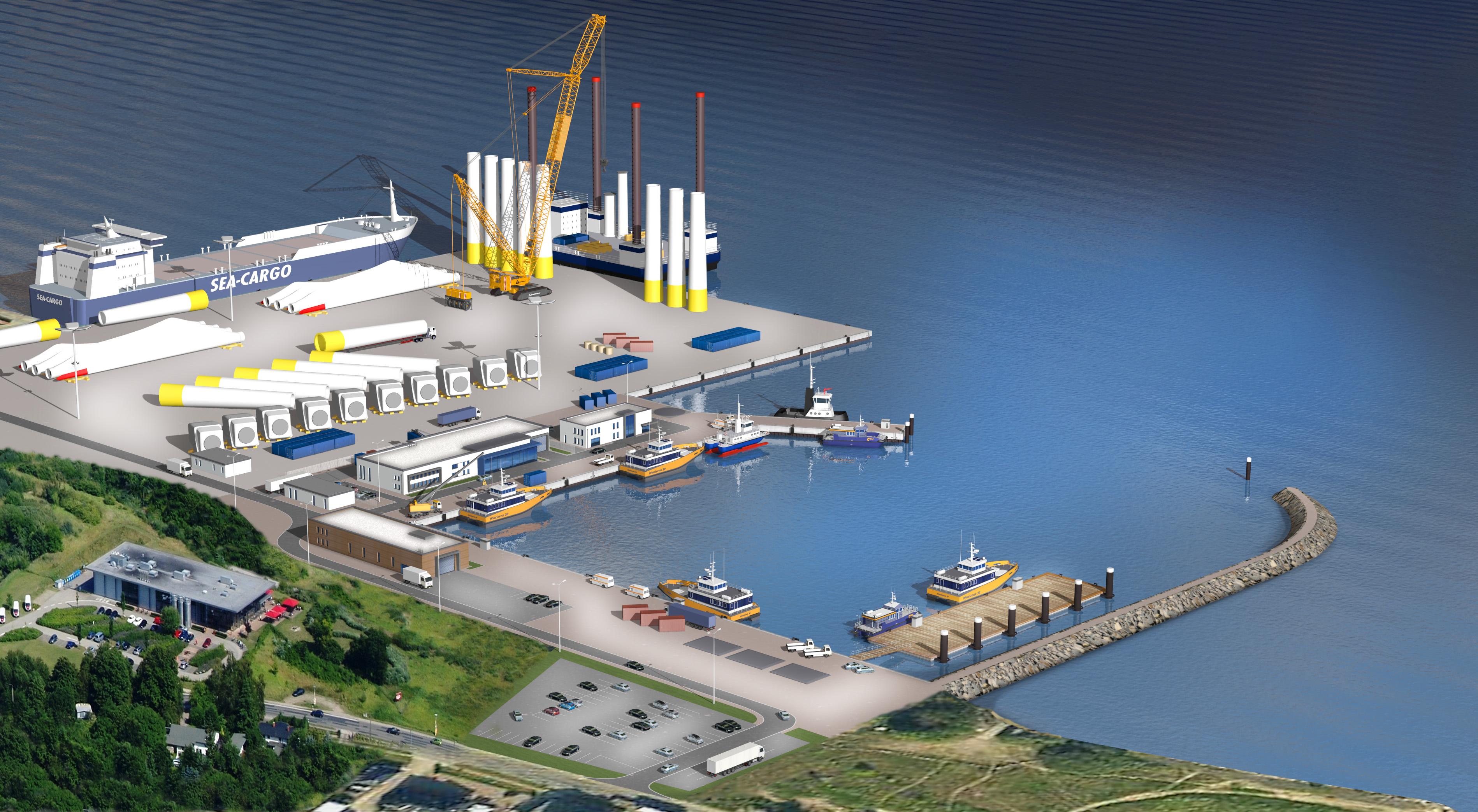Arkona_CTV-Hafen-Luftbild-01 DNV GL Nets Project Certification For E.ON's Arkona Offshore Wind