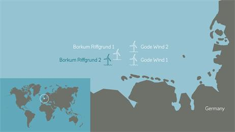 Borkum_Riffgrund2_Map DONG Officially Signs On For 450 MW German Offshore Project