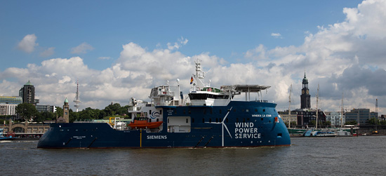test_550-1 Siemens' Gemini Wind Service Operation Vessel Has Christening Day