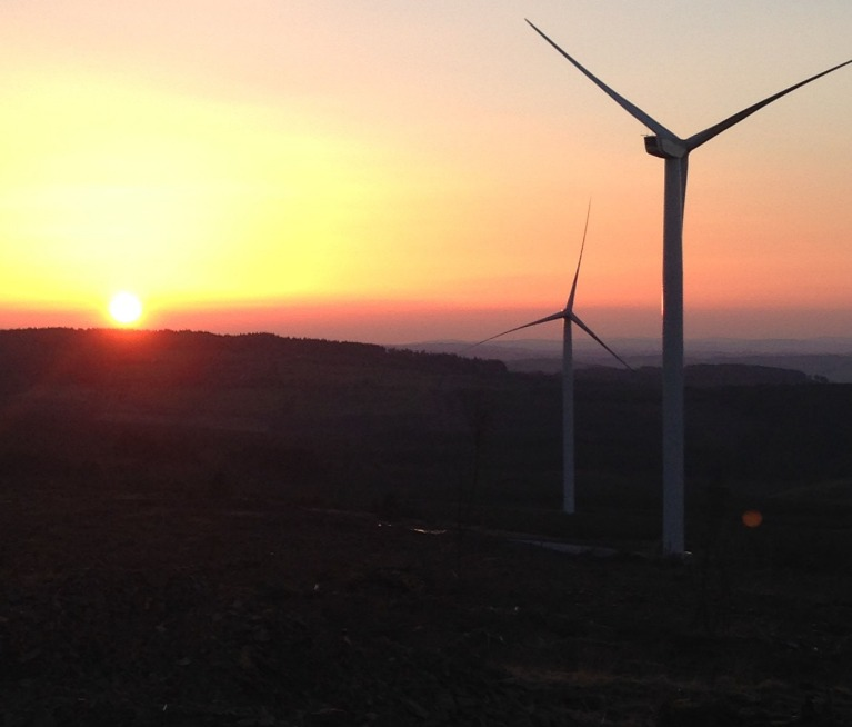 sunset-turbine Nordex Supplies Wind Turbines For 27.5 MW Project In Ireland