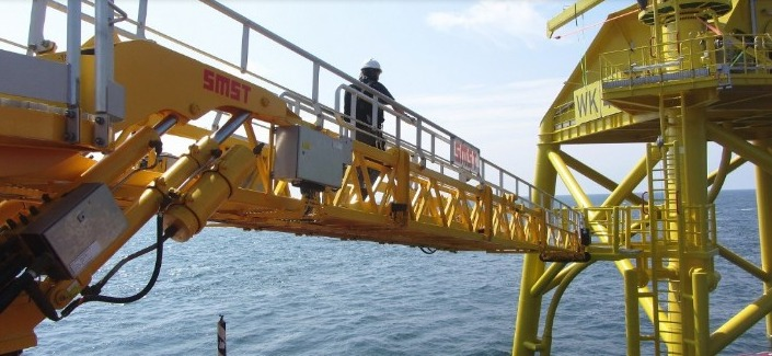 wikinger-offshore SMST Deploys Telescopic Access Unit For 350 MW Offshore Wind Farm