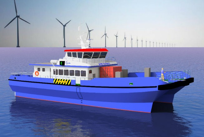 offshore-depiction U.K. Companies Collaborate On New Swath Workboats