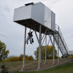 North Dakota College Installs Wind Technician Training Tower