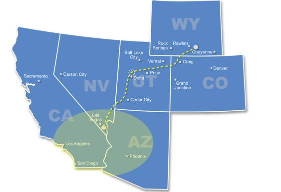 map-highlight-v2-1 Federal Decision Moves TransWest Transmission Project Forward