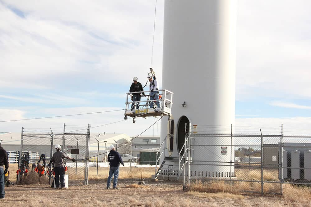 Granite-Training-81 Wind Technician Training Grows At New Mexico College