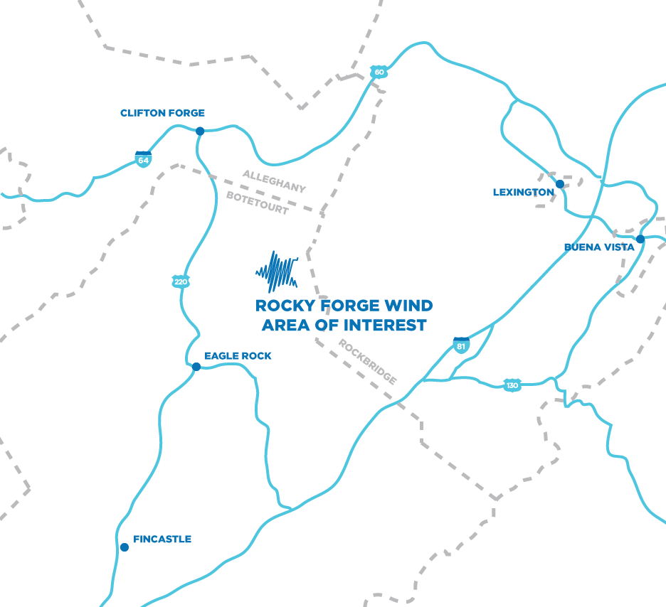 RF_map Apex's Rocky Forge Wind Moves Ahead In Virginia