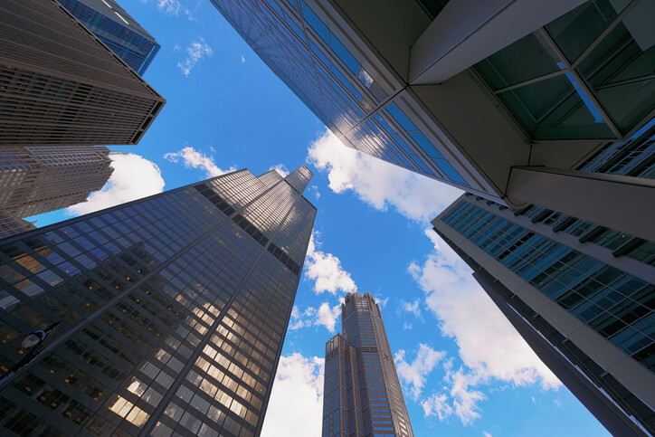 chicago-skyscrapers Chicago Public Buildings To Be Powered Entirely By Renewables