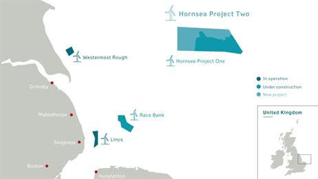 HornseaP2_map DONG Energy Inks Contract For World's Largest Wind Farm