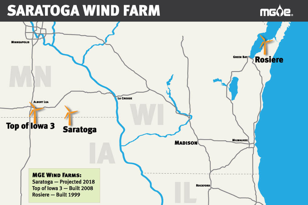 saratoga-locator-map Sierra Club Pushes For Wis. Utility Wind Farm But Argues More Is Needed