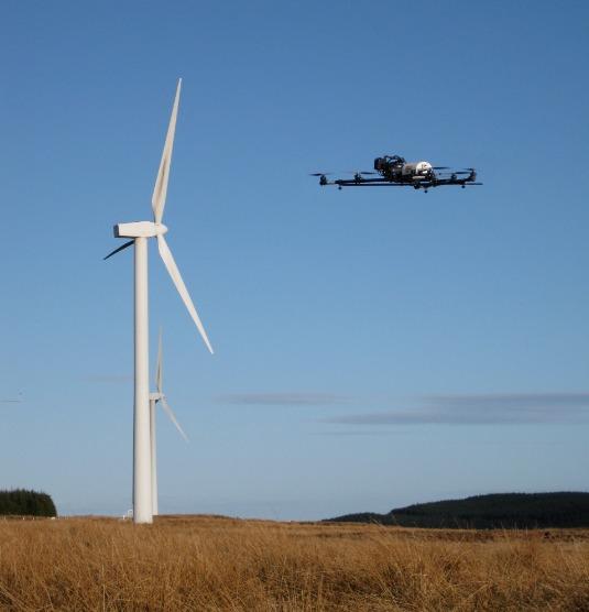 drone-turbine-inspection U.K. Energy Company Enlists Cyberhawk For Turbine Blade Inspections