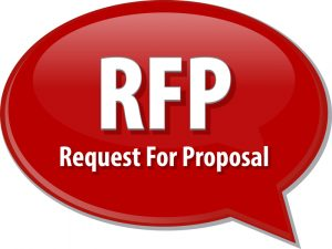 RFP acronym word speech bubble illustration