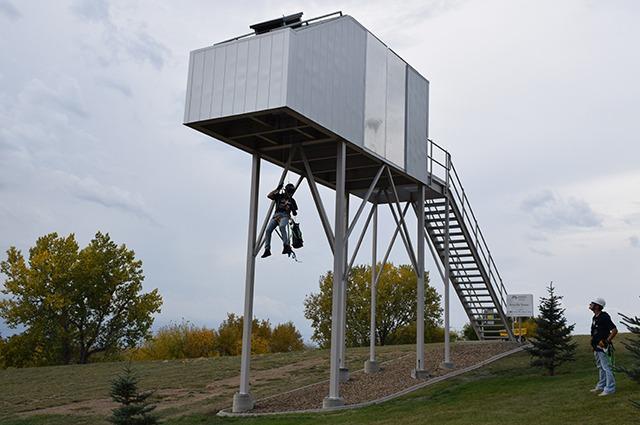 0Nacellecomplete North Dakota College Installs Wind Technician Training Tower
