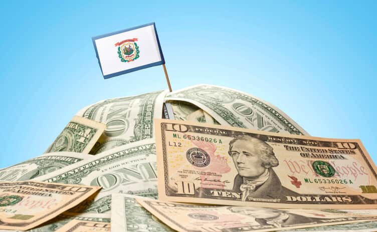 west virginia flag money