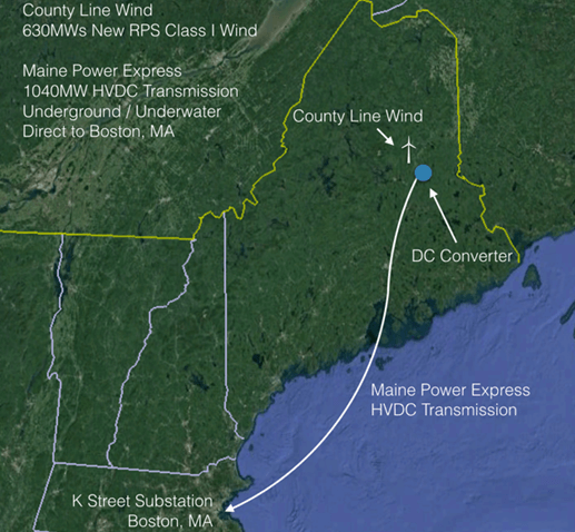 Proposed Project Would Bring Wind From Northern Maine To