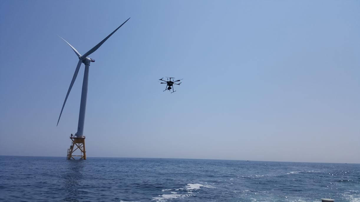 Drones Inspect Block Island Wind Farm - North American Windpower